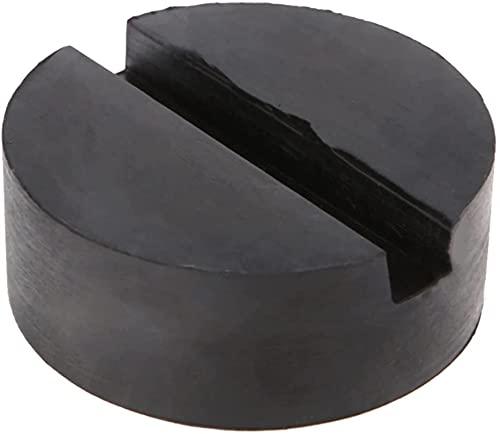 1 unidad de almohadillas de goma para soporte de gato de elevación de coche, adaptador de riel de marco de almohadilla de piso ranurado de goma negra / apto para BMW / Audi / Benz / Skoda / Ford / Toy
