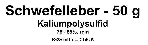 50g azufre Hígado, potasio Poly sulfuro k2sx (75–85% pura) Cobre, Plata beizen (Artificial Envejecer Lassen)