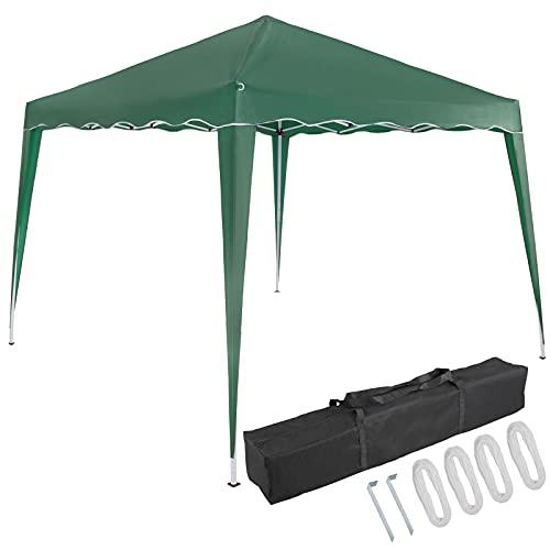 Deuba Pavillon Capri 3x3m Pop-Up UV-Schutz 50+ Wasserdicht Garten Party Faltpavillon Partyzelt Gartenpavillon Fest Grün