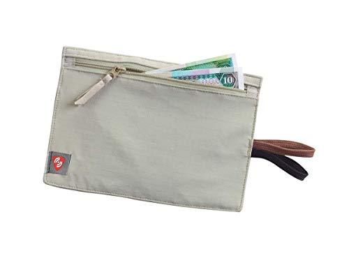 Lewis N. Clark RFID Blocking Money Belt Travel Pouch + Credit Card, ID, Passport Holder for Women & Men, Tan, One Size