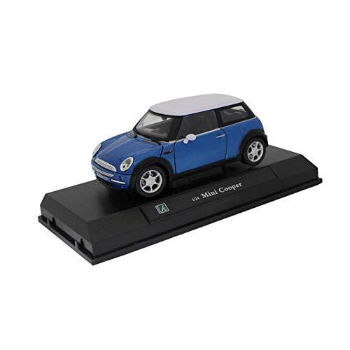 Auto Mini Cooper blu metallo 1 24 °