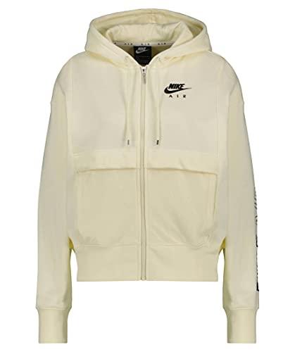 Nike Sudadera con capucha para mujer, color beige, talla S