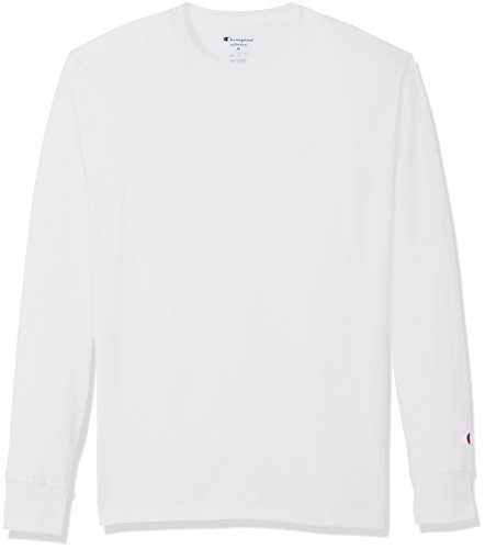 Champion Men's Classic Jersey Long Sleeve T-Shirt, White, XL