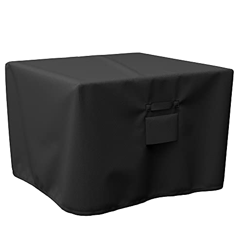 SHINESTAR Durable Square Fire Pit Cover, Fits for 28-32 Inch Gas Fire Table, Waterproof and Windproof, 32 x 32 x 24 Inches, Black