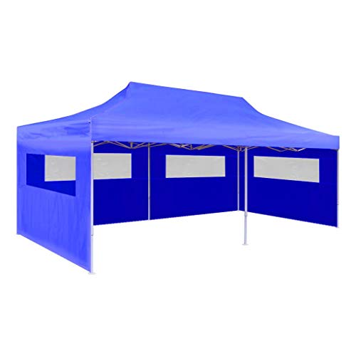Lightweight Party Tent Folding Folding Party Tent Heavy Duty Outdoor Gazebo Blue for Outdoor Parties 9'10' x 19'8' Blue