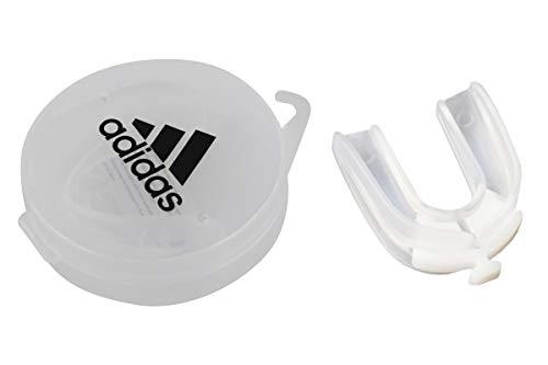 adidas Erwachsene Double CE Senior Mundschutz, Transparent, One Size