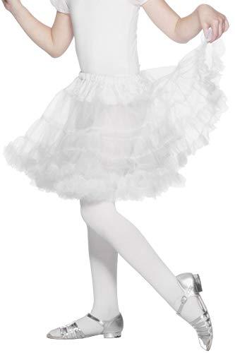 Smiffys Weißer Petticoat Rock Unterrock Mädchen Kostüm Weiß
