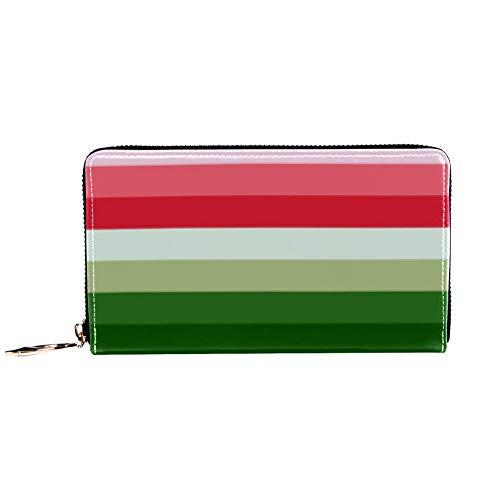 XCNGG Leder Geldbörse Wandfarbe Test Brieftaschen Kartenhalter Clutch mit vielen Taschen für Frauen Männer Mädchen Jungen Jungen Kleine kompakte Brieftasche Bifold