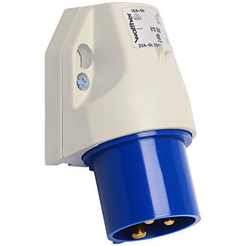 Walther Werke Wandgerätestecker 16A 610306 3P 230V 6h IP44 CEE-Gerätestecker 4015609023066