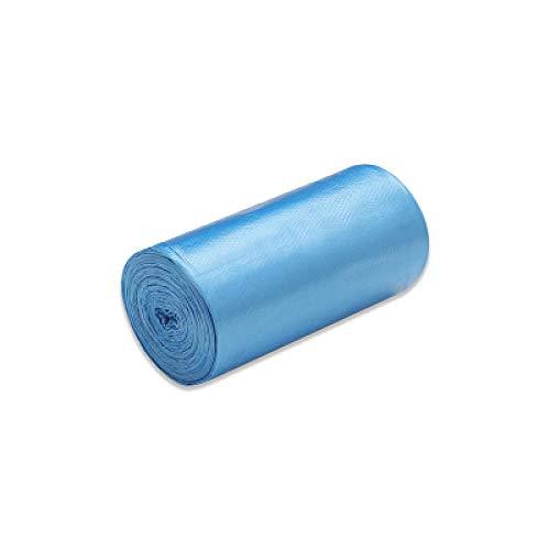 JI 1 Rouleaux 50 x 46 cm Sacs à ordures Couleur Unique épais Pratique Sacs à ordures en Plastique pour l'environnement Sac en Plastique jetable-Bleu x10_50 * 46