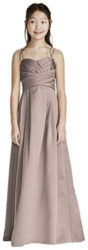 Satin Sweetheart Ball Gown with Pleated Bodice Style WJB0692, Biscotti, 18