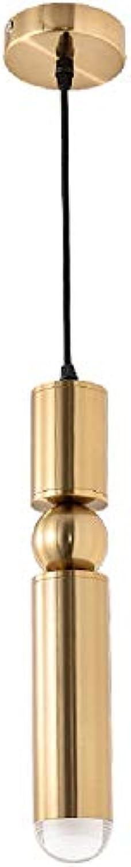 WENL Gold Messing Kugel Pendelleuchte - Einzelkopf Hngelampe kreative Kunst Beleuchtung Nacht Restaurant Korridor Gang Suspension Luminaria Kronleuchter (GU10)