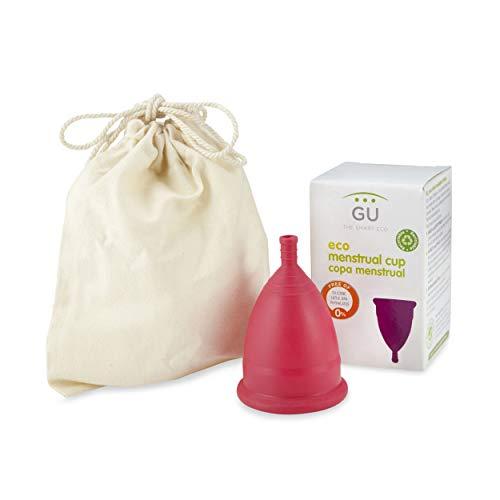 Copa Menstrual Ecológica - Talla M - Sistema antigoteo patentado- Fabricada en España -Con bolsa de algodón ecológico- Sin siliconas o alérgenos