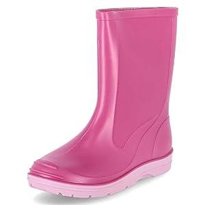 Beck Basic 486 - Botas plisadas para niños, Rosa (Pink 6), 27