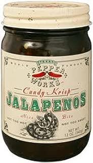 Texas Pepper Works Krisp Jalapenos Candy, 12-Ounce Glass (Pack of 3)
