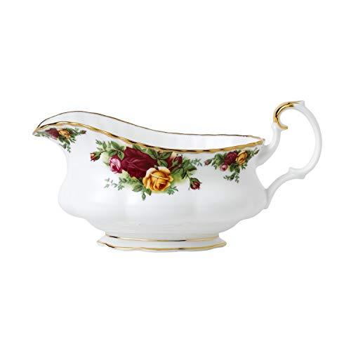 Royal Albert IOLCOR00110 Old Country Roses-Salsera (0,5 L), Color Blanco, Porcelana, Multicolor, 20.3 x 10.8 x 10.2 cm