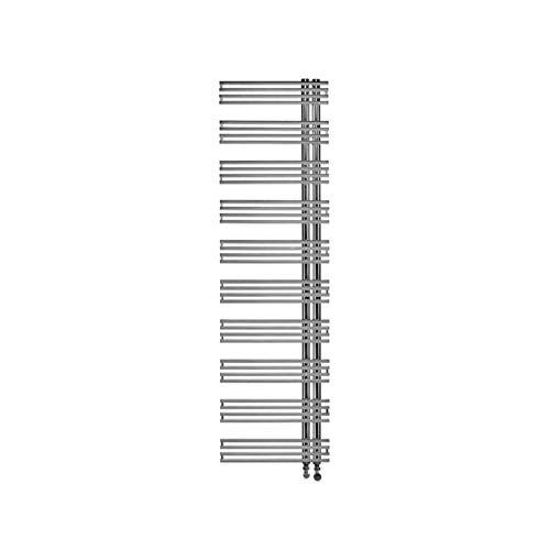 Radiador toallero calefacción vertical de pared, altura 1770mm, serie KL inoxidable, 9,5 x 50 x 177 centímetros (Referencia: 7222278)