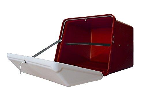 Portaequipajes Moto baúl Reparto Rojo/Blanco con Bandeja y Reflectantes homologados, Cierre Cerradura