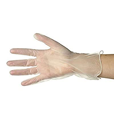 Disposable Vinyl Gloves - Clear Latex Free, Powder Free Gloves for Cleaning, Food Service & Cosmetology - 100 Per Pack