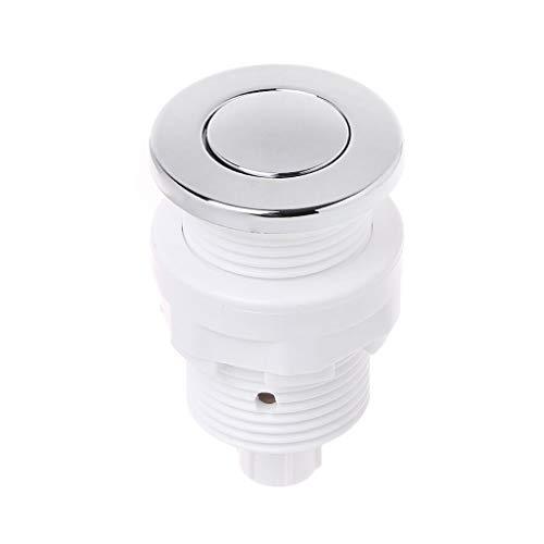 Meipai Botón de interruptor de aire de 28 mm/32 mm para bañera de hidromasaje, interruptor de eliminación de basura