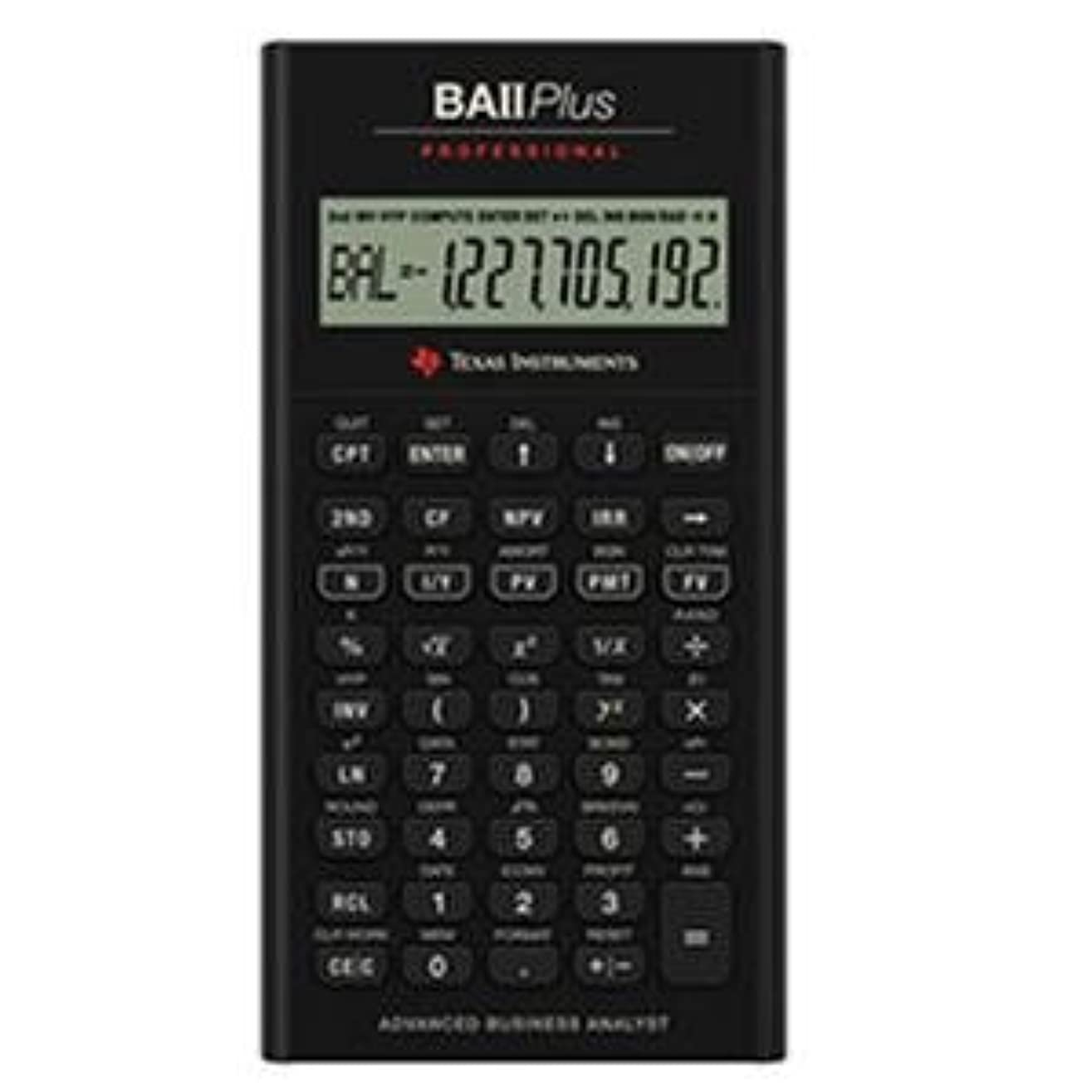 文明ホース鼻Texas Instruments TI BA II PlusプロフェッショナルFinancial Calculator?–?10文字(S)?–?LCD?–?バッテリーPowered