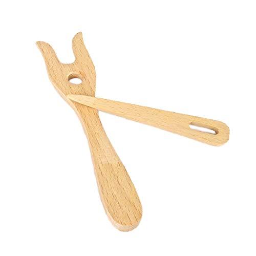 Duradero Herramienta de Hacer Punto 1pc Tenedor de Madera en Forma de Mano Loom Craft Niños DIY Tejido Hecho a Mano de la trenzadora del Tenedor Tipo trenzadora Accesorios de Costura Estable