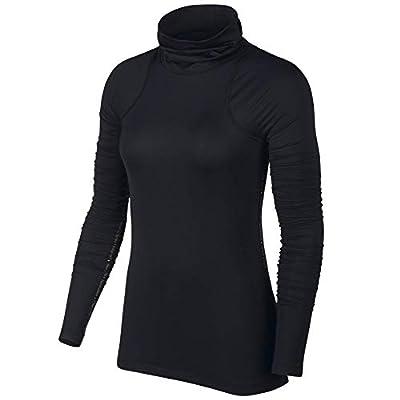 Nike Pro Warm Womens Long-Sleeve Metallic Top BV5324-010 Size M
