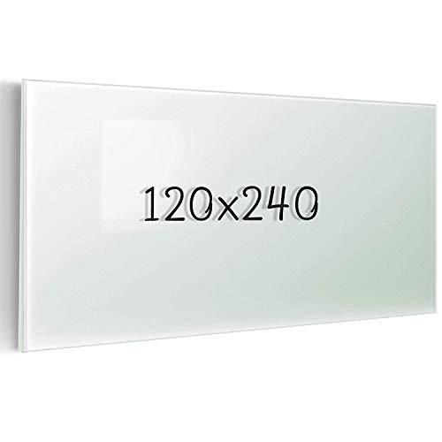 Glas-Whiteboard   Sicherheitsglas   Reinweiß   Rahmenlos   8 Größen (120x240 cm) - 6