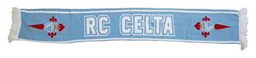 R.C. Celta de Vigo Bufcel Bufanda Doble HD, Azul Celeste/Blanco, 140 x 20 cm