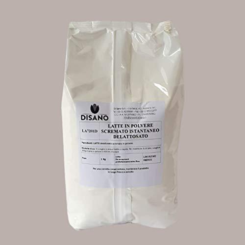 LUCGEL Srl 1 kg Latte Scremato In Polvere Solubile Liofilizzato Delattosato a Dissoluzione Istantanea Senza Lattosio Milk Delactosate destinato solo ad USI PROFESSIONALI