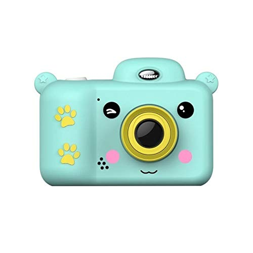 sknonr Kinder Kamera wasserdicht 2,4-Zoll-Full-HD-Mini-Kamera, vorne und hinten Dual-Objektive, DV-Videokamera, Kinderspielzeug, Geschenke for Kinder (Color : Blue, Size : 32G)