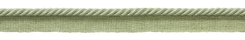 11 Meter Value Pack of 5mm Pale Jade Green, Basic Trim Lip Cord, Style# 0316S Color: PALE JADE - G12 (36 Ft / 12 Yards)