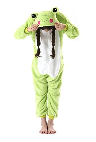 DarkCom Niños Encantadores Sleepsuit Ropa De Dormir De Dibujos Animados De Cosplay Mamelucos Pijama Verde1,140(Sugerir Altura 138cm-146cm