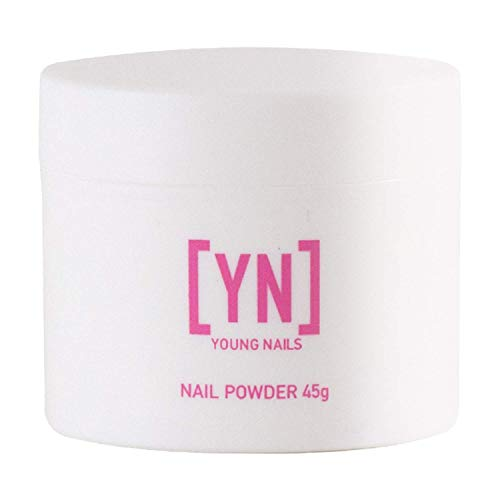 YOUNG NAILS Acrylic Speed Powder, White, 45 Gram