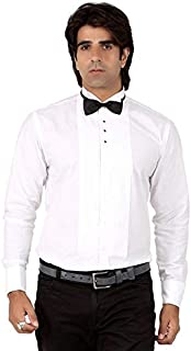 Valeta JF 02 Tuxedo Shirt Wing Tip Collar,with Clip On Black Neck Bow