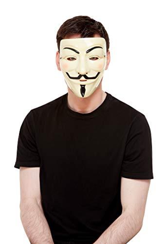 SMIFFYS 52364 - Maschera di Guy Fawkes, unisex, per adulti, bianco, taglia unica