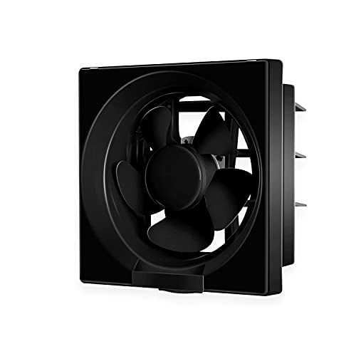 Luminous Vento Deluxe 150 mm Exhaust Fan for Kitchen, Bathroom, and Office (Cut-out Size - Sq 192 x 192 mm, Black)