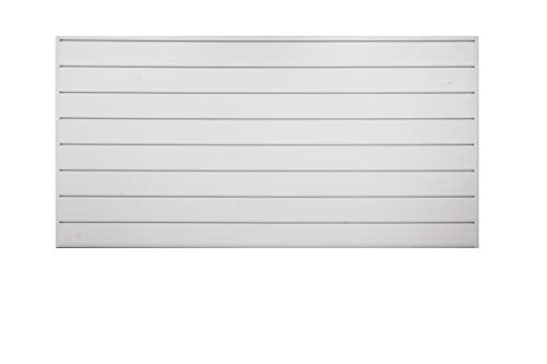 Crownwall PVC Slat Wall Panels Garage Wall Organizer Storage System   Heavy Duty Organization and Easy Installation   6 Inch - 8ft by 4ft (32 sqft) Section, Dove Grey