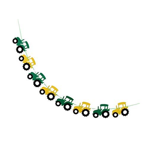 freneci Cool Tractor Voelde Banner Garland Babydouche Verjaardag Binnen Buiten