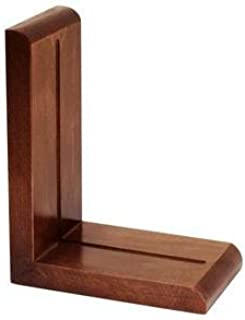 Cherry Wood Finish Bookends - 1 Pair