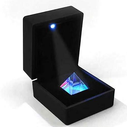 Prisma De Pirámide Prisma De División De Haz, Experimento Óptico para La Enseñanza De La Física del Espectro De Luz con Caja De Regalo Ligera