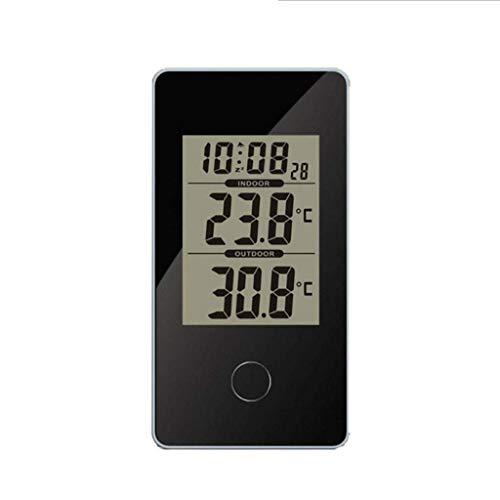 AJH Digitale Wecker Multifunktionale Digitale LCD-Weckerthermometer Elektronisches Thermometer Innenwetterstation mit Hintergrundbeleuchtung Digitale Wecker am Bett