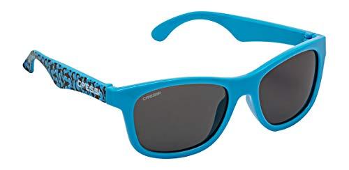 Cressi Kiddo Sunglasses Gafas de Sol para niños, Juventud Unisex, Azul Claro Killer Whale/Lentes Fume, 6 + Años