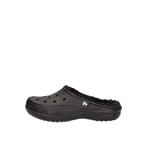 crocs Freesail Plush Lined Clog Zuecos Mujer, Negro (Black/Black), 41/42 EU (W10)