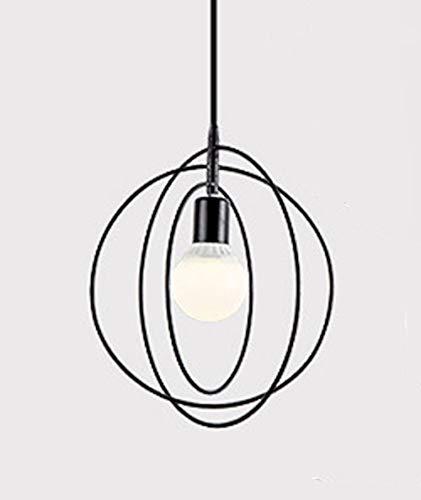 Luminaire suspendu en métal moderne nordique - Laiton étoile/anneau/Pentagramme E27 Lampe suspension éclairage du restaurant (Ampoule Non Incluse)