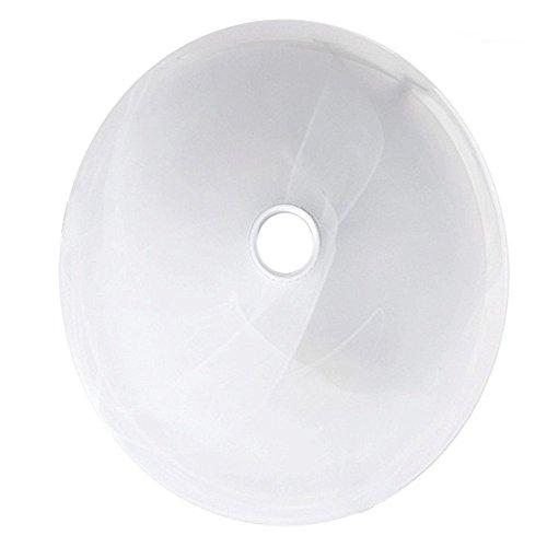 Maclean MCE22 Lampenglas Glas Decke Lampe Leuchte Deckenleuchte Wandleuchte Plafon Sensor Pir Infrarot weiss 30cm 30 cm