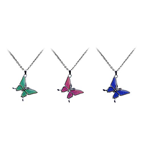 kowaku 3pcs Color-Changing Mood Necklace Women Wedding Jewelry for Party Dating