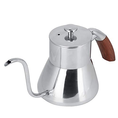 Cloudbox Cafetera 800ml Hervidor de Agua de Acero Inoxidable Plateado para Uso doméstico en cafeterías