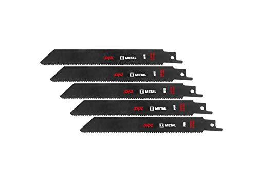 Skil 2610397022 Set di 5 Lame per Sega a Gattuccio per Metallo