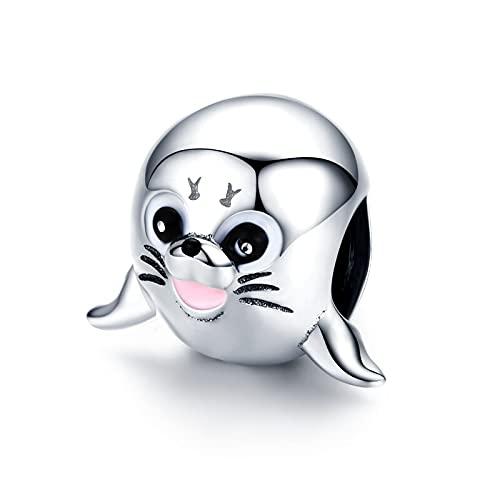 LISHOU Animal Seal Charm 925 Cuentas Colgantes De Plata Esterlina Fit Original Pandora Collar Pulsera DIY Joyería Que Hace Regalo